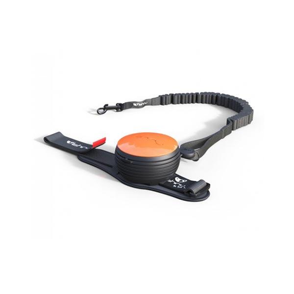 Lishinu bungee automata póráz csuklóra csatolható kutyáknak -narancs -hellodog-kutyatapok-eu