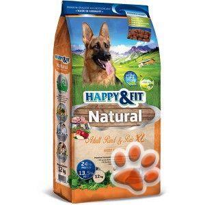 Happy&Fit Natural Adult Rind&Reis XL kutyatáp 12kg