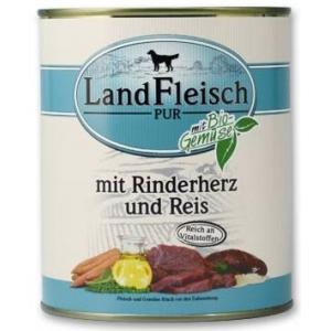 Land Fleisch kutyakonzerv marhaszív és rizs 6x800g