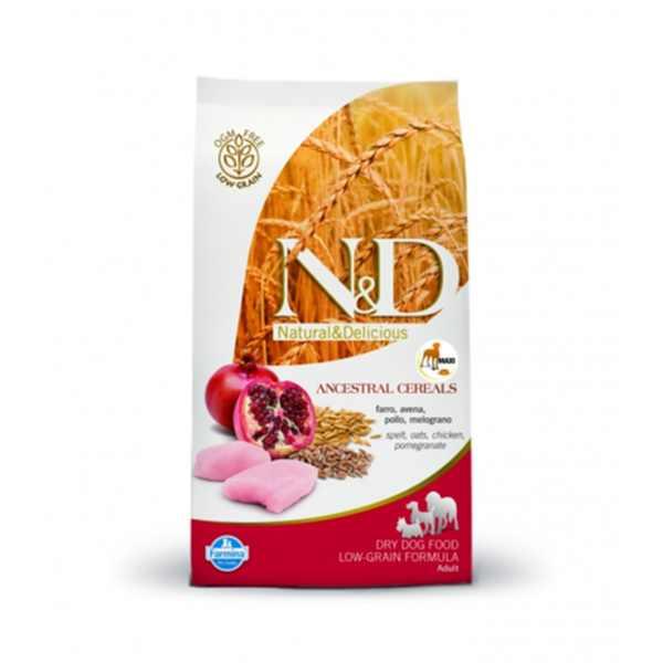 pnd120375s-natural-delicious-adult-maxi-low-grain-dog-chicken-pomegranate-12kg-hellodog-kutyatapok-eu